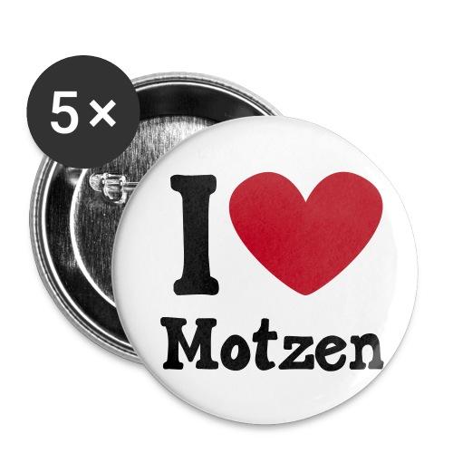 I Love Motzen (Buttons) - Buttons klein 25 mm
