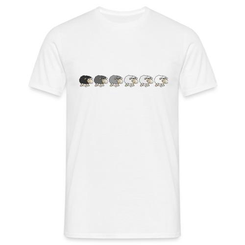 Black to white - Männer T-Shirt