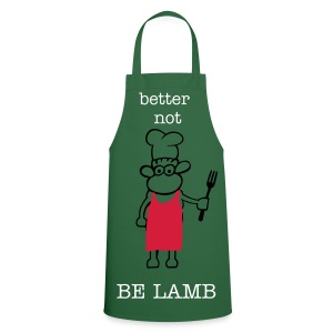 Cooking Apron - BBQ,funny,green,lamb,sheep