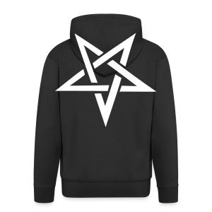 Official The R.O.A.D pentagram hoodie - Men's Premium Hooded Jacket