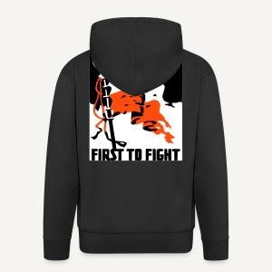 Poland - first to fight (bluza rozpinana) - Rozpinana bluza męska z kapturem Premium