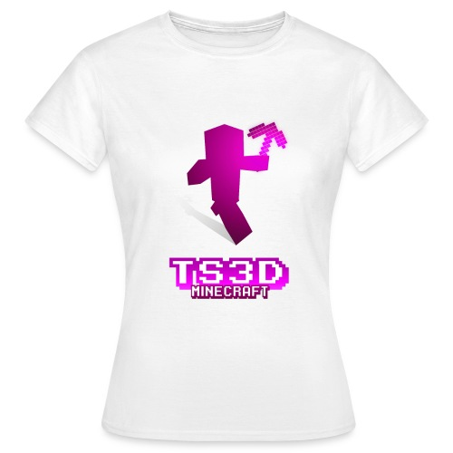 Girl Weiß pinkes Logo - Women's T-Shirt