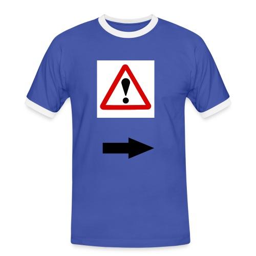 achtung - Männer Kontrast-T-Shirt
