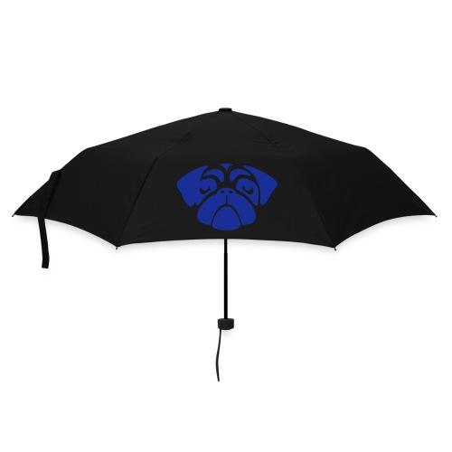 Regenschirm Mopsgesicht blau - Regenschirm (klein)