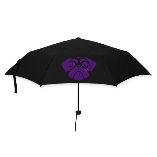 Regenschirm Mopsgesicht lila - Regenschirm (klein)