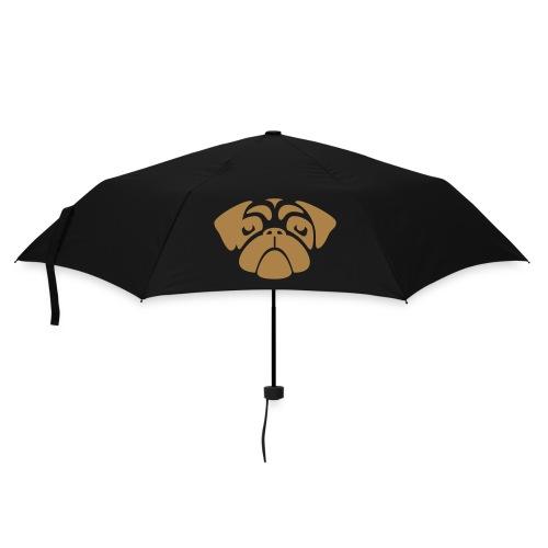 Regenschirm Mopsgesicht schwarz - Regenschirm (klein)