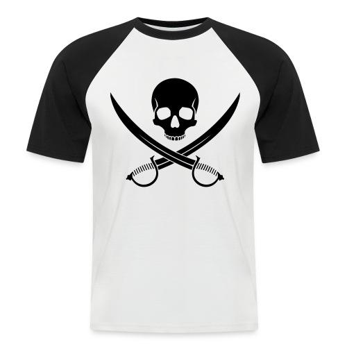 T-Shirt da Baseball Teschio Pirata - Maglia da baseball a manica corta da uomo