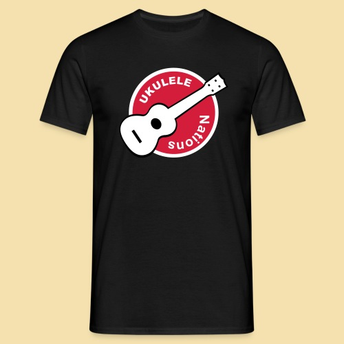Menshirt: Ukulele Nations (Motiv: Rot/weiss/schwarz) - Männer T-Shirt