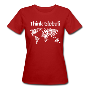 Think Globuli - Frauen Bio-T-Shirt