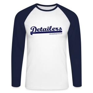 Detailing World 'Detailers' Long Sleeve 2 Tone Shirt (Men's) - Men's Long Sleeve Baseball T-Shirt