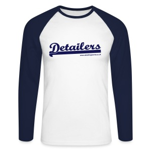 Detailing World 'Detailers' Long Sleeve 2 Tone Shirt (Men's) - Men's Long Sleeve Baseball T-Shirt