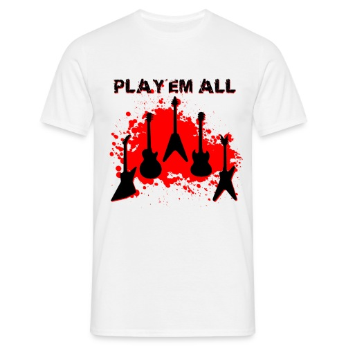 Play 'Em All red - T-shirt Homme