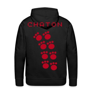 Sweat dedicasse chaton - Sweat-shirt à capuche Premium pour hommes