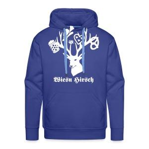 t-shirt oktoberfest wiesn hirsch edelweiss münchen bayern brezel hut lebkuchenherz bier bierkrug maß geweih T-Shirts - Männer Premium Hoodie