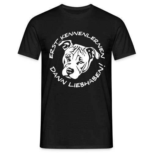 HUNDEVERSTAND STATT RASSELISTEN - Männer T-Shirt