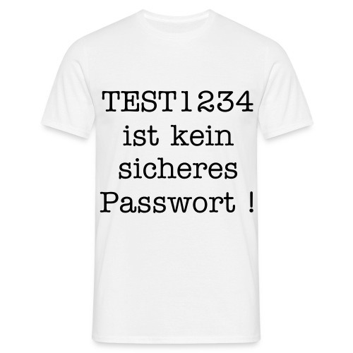 Test1234 is insecure - Männer T-Shirt