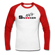 Langarmshirts ~ Männer Baseballshirt langarm ~ 147 snooker