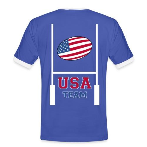 usa team rugby shirt - T-shirt contrasté Homme