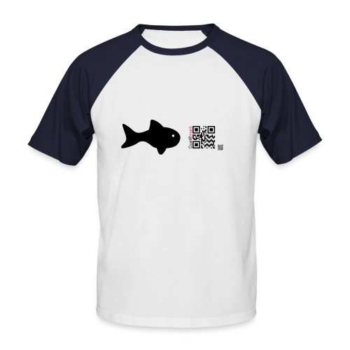 fish_black - Men's Baseball T-Shirt