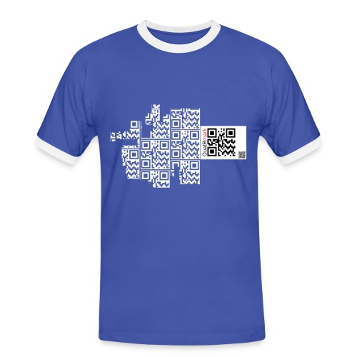 qr_escaped_white - Men's Ringer Shirt
