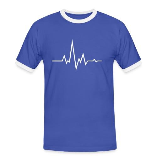 Mens Contrast Waveform Shirt - Men's Ringer Shirt