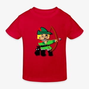 Kid Billy featured as Robin Hood archer - Kids' Organic T-shirt