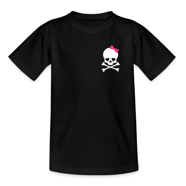 small girlie skull Kids' Shirts