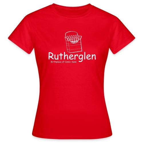 Rutherglen Comic Sans - Women's T-Shirt