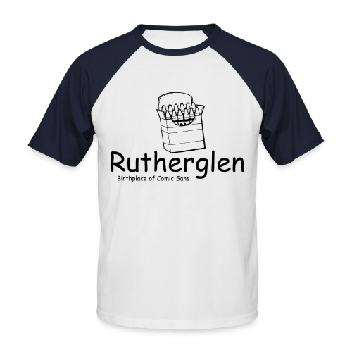 Rutherglen Comic Sans - Men's Baseball T-Shirt