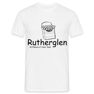 Rutherglen Comic Sans - Men's T-Shirt