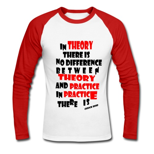 Theory&practice - T-shirt baseball manches longues Homme
