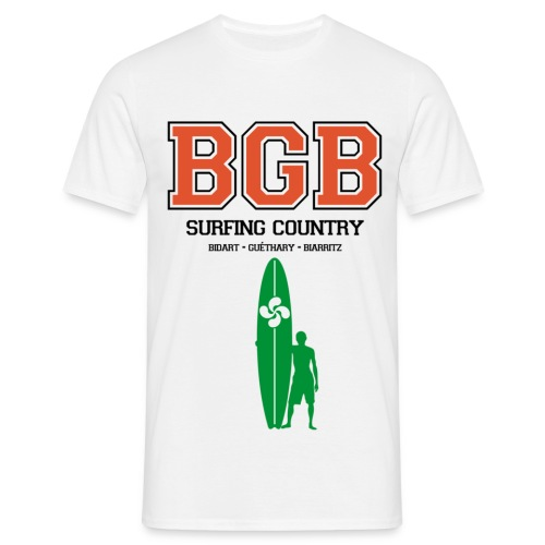 pays basque surfing t-shirt - Men's T-Shirt