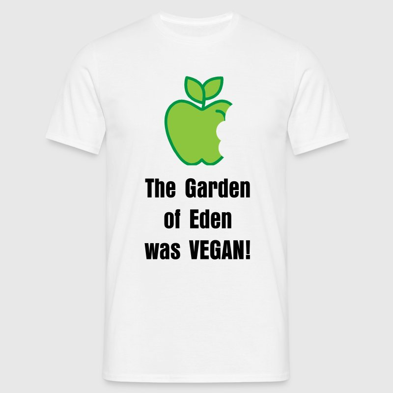 The garden of eden was vegan t shirt spreadshirt for Garden t shirt designs