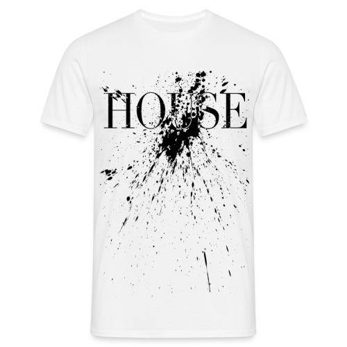House Black Splash - Männer T-Shirt