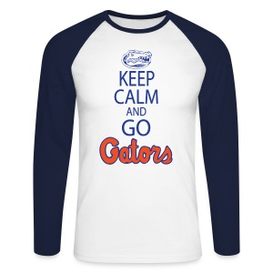 Keep Calm London Gator Club  (Colored Long sleeve) - Men's Long Sleeve Baseball T-Shirt