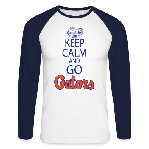 Keep Calm London Gator Club  (Colored Long sleeve) - Men's Long Sleeve Baseball T-Shirt