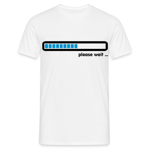 Please Wait... - Men's T-Shirt