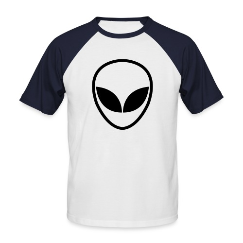 A White Alien T-Shirt - Men's Baseball T-Shirt