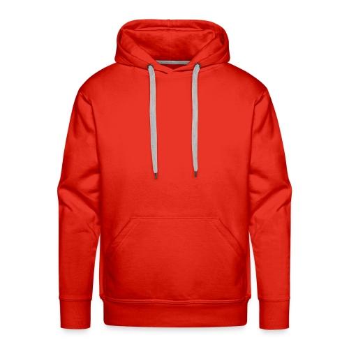 A Deep-Red Hooded Sweat-Shirt - Men's Premium Hoodie