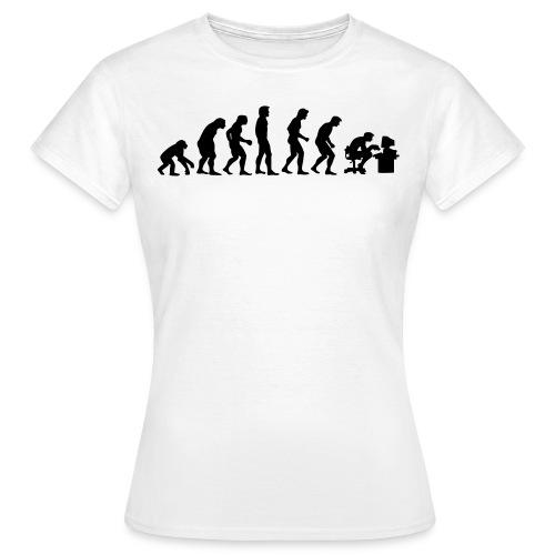 T-SHIRT Femme, l'evolution de l'homme. - T-shirt Femme