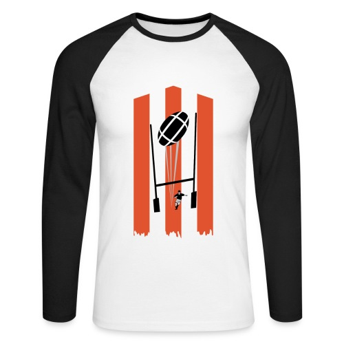 t-shirt rugby design - T-shirt baseball manches longues Homme