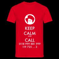 Camisetas ~ Camiseta hombre ~ Camiseta IT Crowd - Moss - Keep Calm and Call - chico manga corta