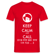 Camisetas ~ Camiseta hombre ~ Camiseta IT Crowd - Moss - Keep Calm and Call - chico manga corta