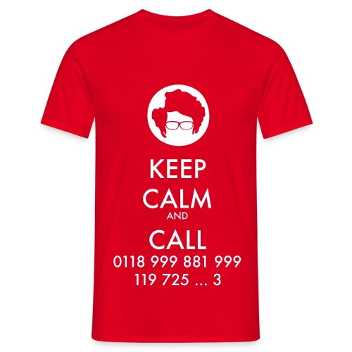 Camiseta IT Crowd - Moss - Keep Calm and Call - chico manga corta - Camiseta hombre