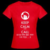 Camisetas ~ Camiseta mujer ~ Camiseta IT Crowd - Moss - Keep Calm and Call - chica manga corta