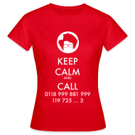 Camisetas ~ Camiseta mujer ~ Camiseta IT Crowd - Moss - Keep Calm and Call - chica manga corta