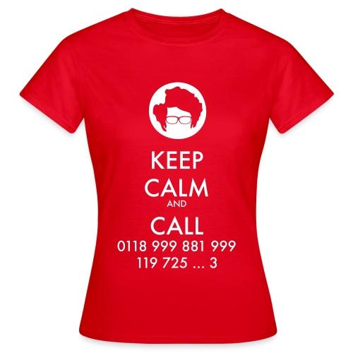 Camiseta IT Crowd - Moss - Keep Calm and Call - chica manga corta - Camiseta mujer
