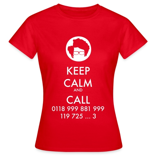 Camiseta IT Crowd - Moss - Keep Calm and Call - chica manga corta - Camiseta mujer
