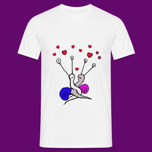 Escargot amoureux - T-shirt Homme