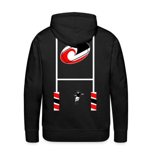 sweatshirt maori rugby design - Sweat-shirt à capuche Premium pour hommes